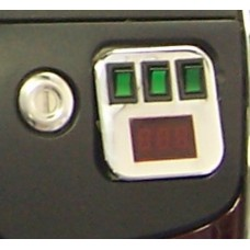 1800 Digital Voltmeter, Switch Kit w/Chrome Plate