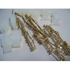 10pk Fem/Male conn w/brass term-3 wires