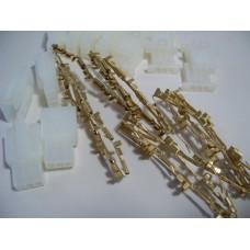 10pk Fem/Male conn w/brass term-3 wires