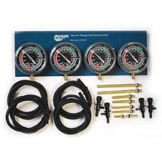 Vacuum gauge carburetor synchronizer