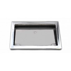 License plate holder, chrome frame