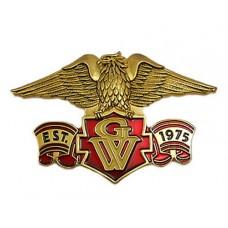 Eagle emblem, Est 1975 GW banner 1 5/8-inch