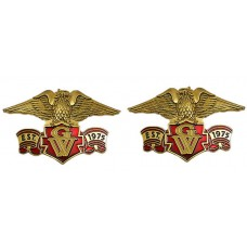 Right/Left eagle emblem set, Est 1975 GW 3-inch