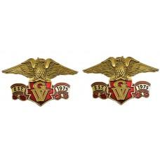 Right/Left eagle emblem set, Est 1975 GW 4-inch