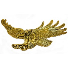 Screaming Eagle emblem, Antique gold-Left 7-inch